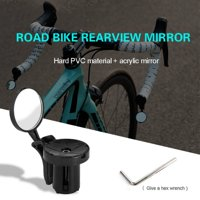 Bicycle Rear Mirror Bike Handlebar End Mirror MTB Handlebar Side Safety Rear View Mirror Road Bike Cycling Flexible Rearview Mirrors