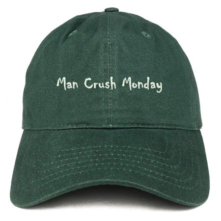 Trendy Apparel Shop Man Crush Monday Embroidered Soft Cotton Dad