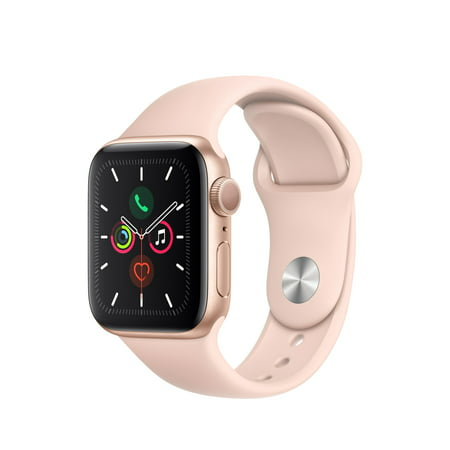 Apple Watch Series 5 GPS, 40mm Gold Aluminum Case with Pink Sand Sport Band - S/M & M/L