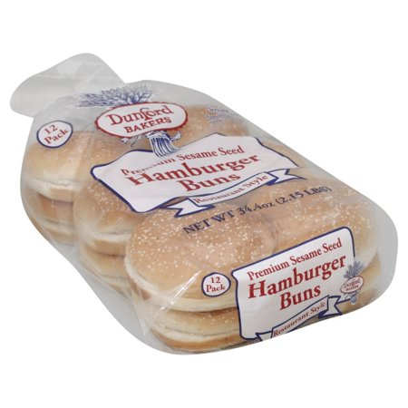 Rocky Mountain Bread Dunford Bakers Hamburger Buns, 34 4 oz
