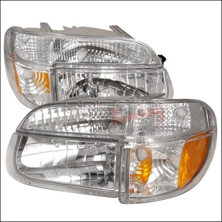 Spec-D Tuning 2LPLH-EPOR95-KS Crystal Housing Headlights for 95 to 01 Ford Explorer, Chrome - 11 x 22 x 23 in. 01 Ford Explorer Crystal