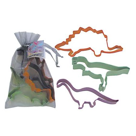 R&M Dinosaur 3 Piece Colorful Cookie Cutter Set In Bag - Dinosaur Cookie Cutters