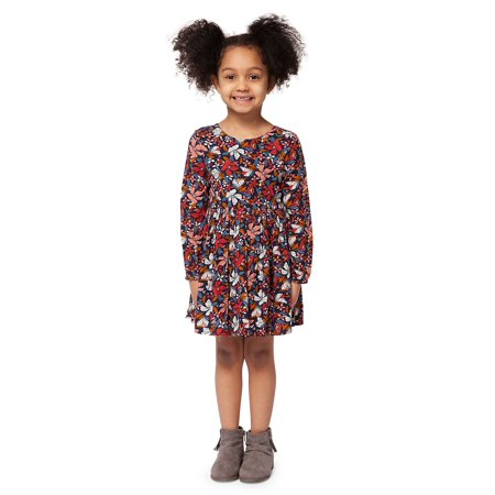 Little Girl's Floral Long-Sleeve Dress