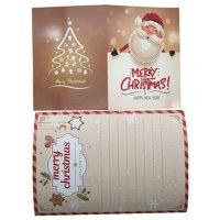 Diamond Painting Cartoon Mini Santa Claus Merry Christmas Paper Greeting Postcards Craft DIY Kids Festival Greet Cards