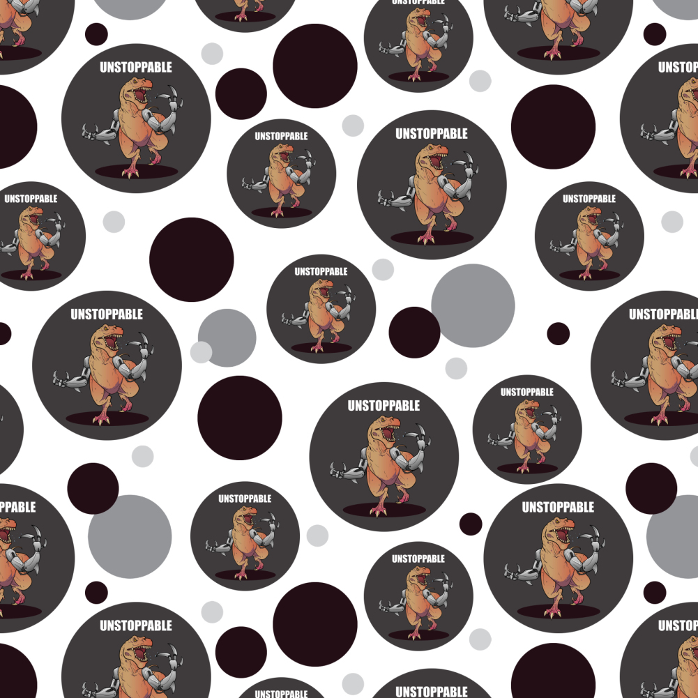 Unstoppable Tyrannosaurus Rex Dinosaur Premium Gift Wrap Wrapping Paper Roll