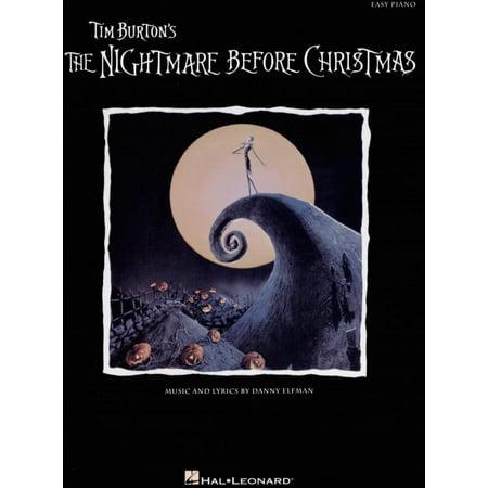 Easy Piano (Hal Leonard): The Nightmare Before Christmas (Paperback)