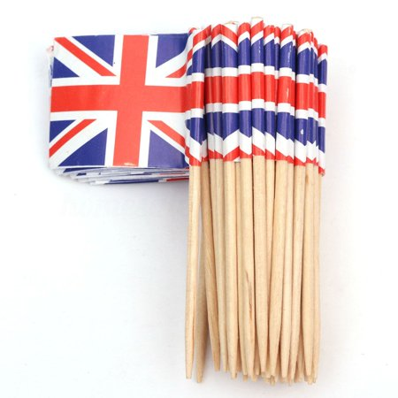 50 Union Jack British Sandwich Party Flag Food Cup Cake Cocktail Sticks Picks](Halloween Food Ideas Sandwiches)