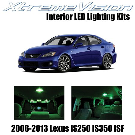 XtremeVision LED for Lexus IS250 IS350 ISF 2006-2013 (14 Pieces) Green Premium Interior LED Kit Package + Installation Tool
