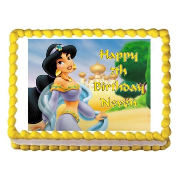 Outstanding Aladdin Jasmine Disney Agrabah Trees Edible Cake Topper Image Funny Birthday Cards Online Alyptdamsfinfo