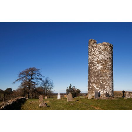 Old Kilcullen Round Tower County Kildare Ireland Poster Print Old Round Tower