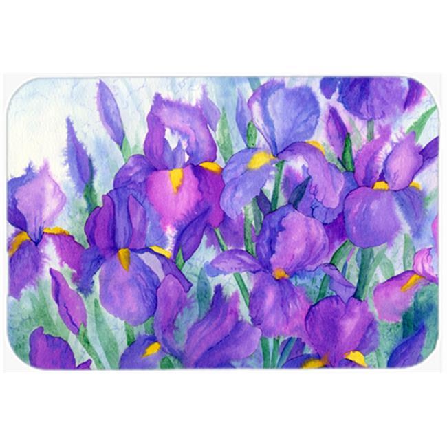 Purple Iris Mouse Pad, Hot Pad or Trivet