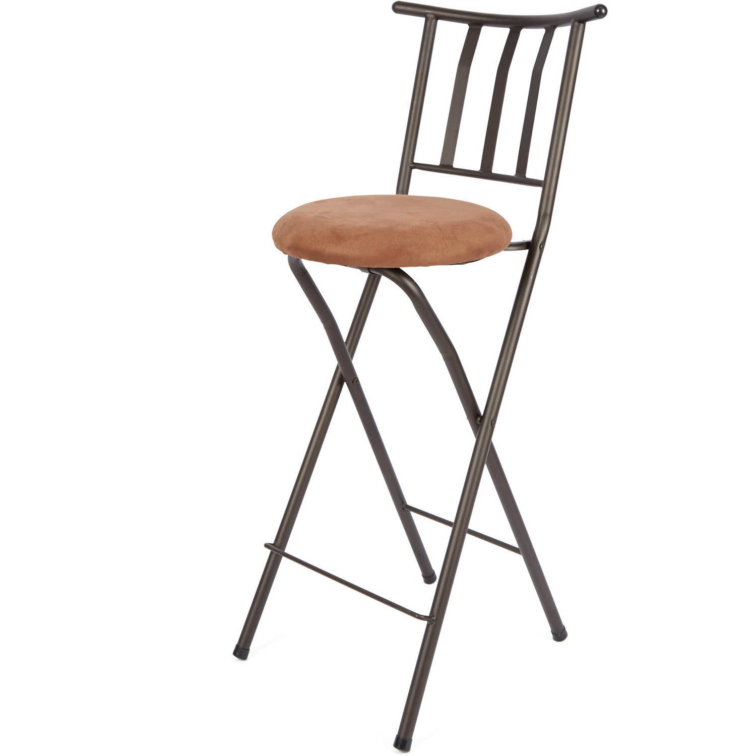 "Mainstays Slat Back Folding 9"" Bronze Bar Stool, Multiple Colors -  Walmart.com"