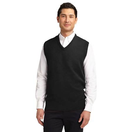 Port Authority Men's Value V-Neck Sweater Vest 3 Piece Plaid Sweater