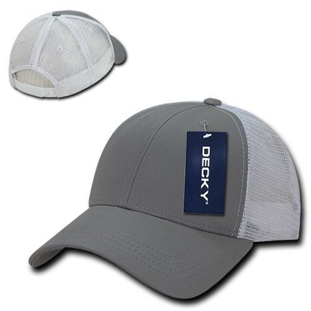 - Gray Solid White Plain Mesh Cotton Golf Low Crown Curved Baseball Ball Cap Hat