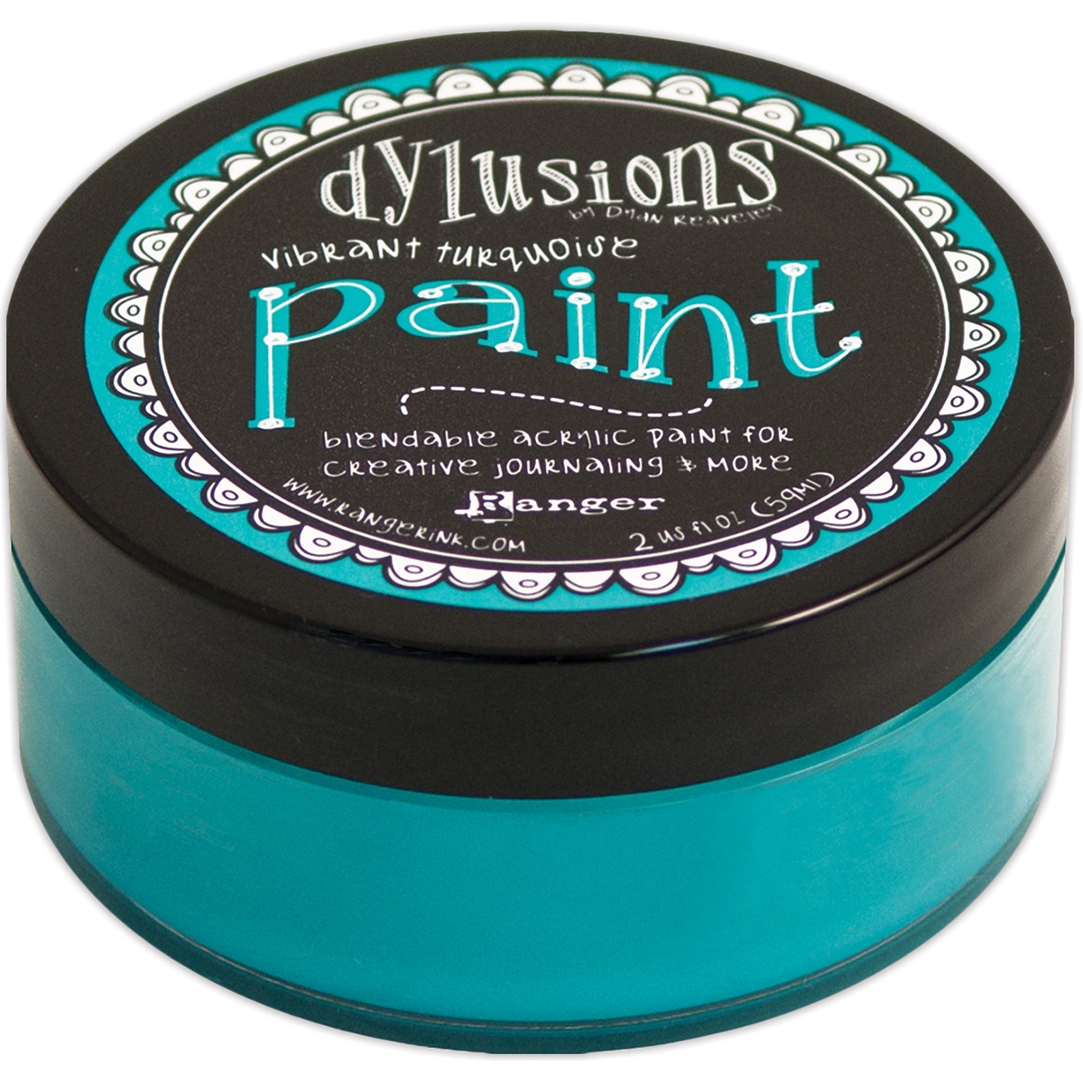 Dylusions By Dyan Reaveley Blendable Acrylic Paint 2oz-Vibrant Turquoise
