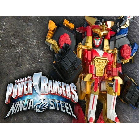 Power Rangers Ninja Steel Megazord Edible Cake Topper Image ABPID00006V2 - Power Ranger Cakes
