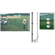 Outfield Fence Pack W/o Ground Sockets-Color:Red