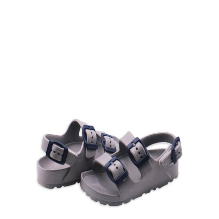 First Steps Two Buckle EVA Footbed Sandal (Toddler Boys)