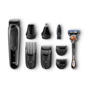 Braun Multi Grooming Kit MGK3060 Black/Grey - 8-in-1 Precision Trimmer for Beard and Hair Styling