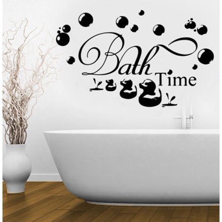 Washroom Wall Stickers Bath Time Bubbles Soak Relax Removable Art Wall Stickers Decal Bathroom Home Art Decor Walmart Canada