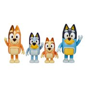 "Bluey & Family 4 Pack of 2.5-3"" Figures, Including Bluey, Bingo, Mum & Dad"