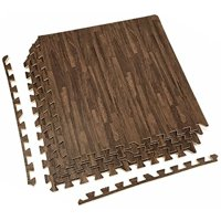 Product Image Sorbus Wood Grain Floor Mats Foam Interlocking Tile 3 8 Inch Thick Flooring