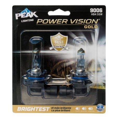 PEAK Lighting Power Vision Gold 9006 HB4 55W Brightest White Headlight
