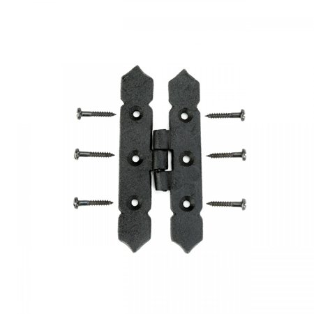 Cabinet H Hinge Black Iron Spear Tip 4