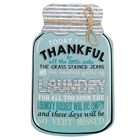 (Barnyard Designs Rustic Today I Will Be Thankful Mason Jar Decorative Wood and Metal Wall Sign Vintage Country Decor 14
