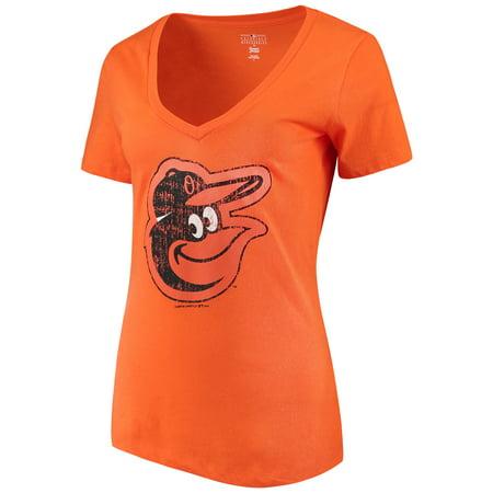 - Women's New Era Orange Baltimore Orioles V-Neck T-Shirt