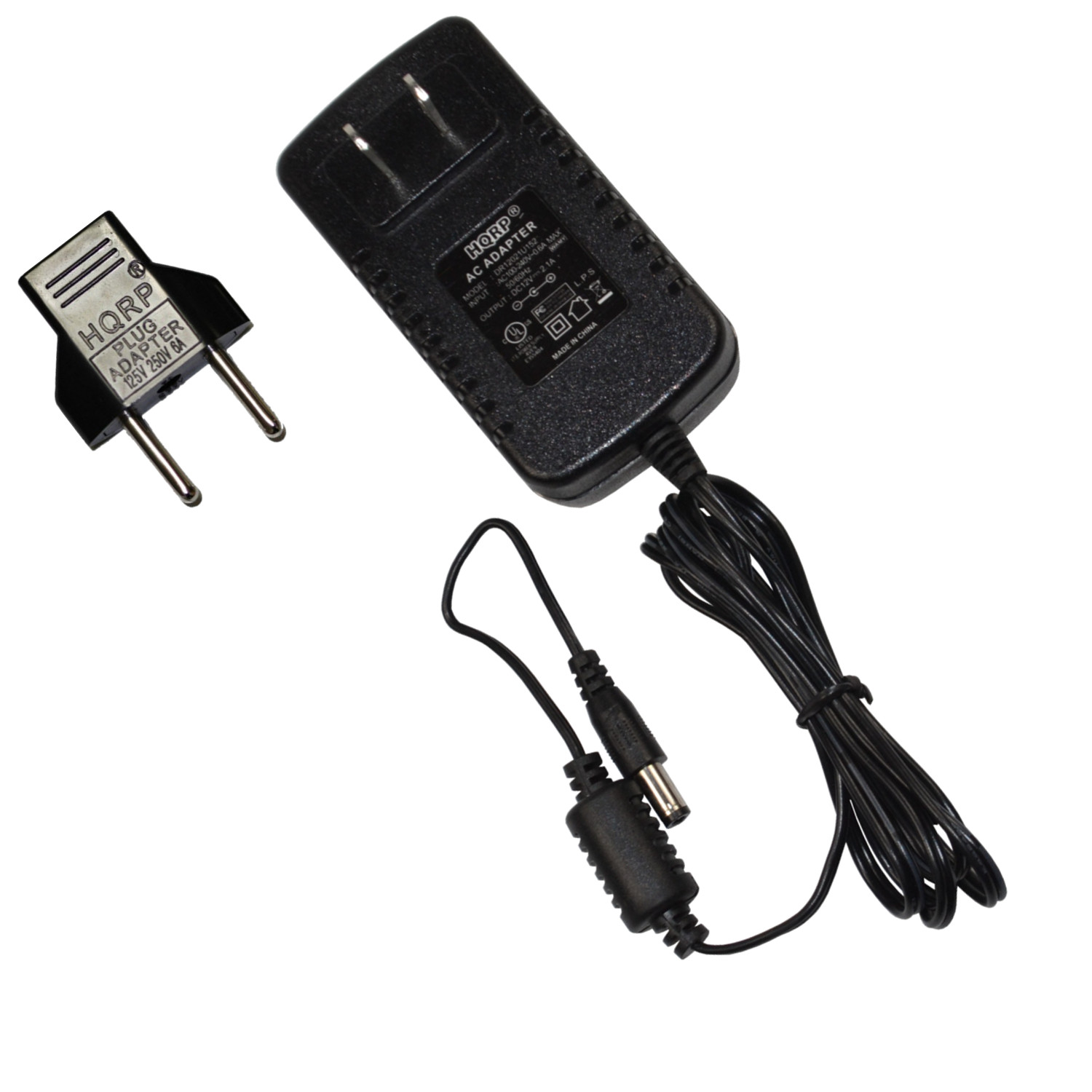 HQRP AC Adapter for Logitech Squeezebox Boom All-in-One Network Music Player Wi-Fi Internet Radio 930-000054, 830-000030, 993-000199, X-RB2 Power Supply Cord [UL Listed] + Euro Plug Adapter