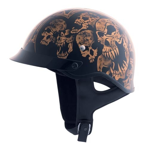 HJC CS-Cruiser Threat by Castle Black/Copper/Gold