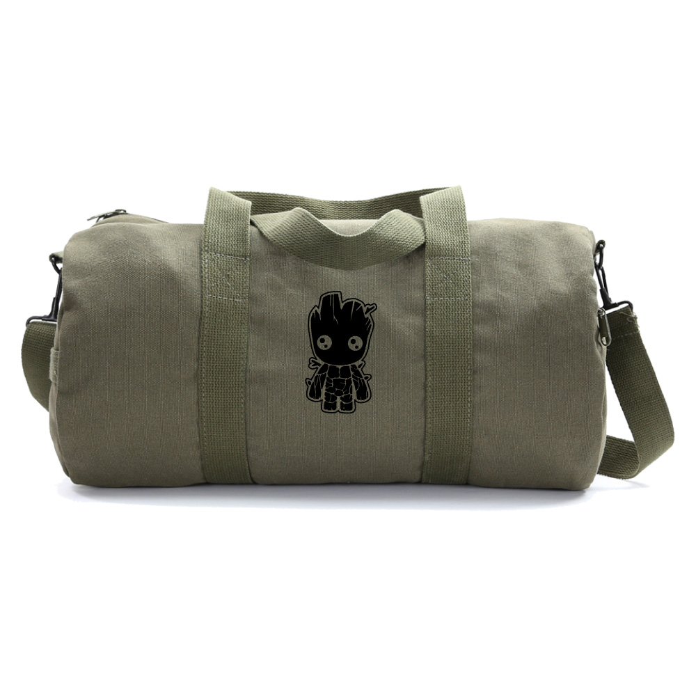 Baby Groot Guardians of the Galaxy Canvas Messenger Shoulder Bag Khaki /& Black