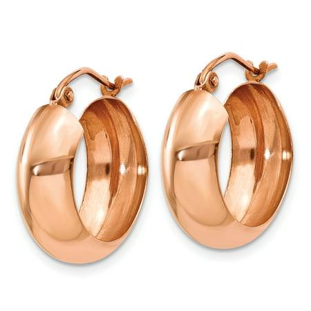 14k Rose Gold Hoop Earrings Ear Hoops Set Fine Jewelry Gifts For Women For Her - image 3 de 8