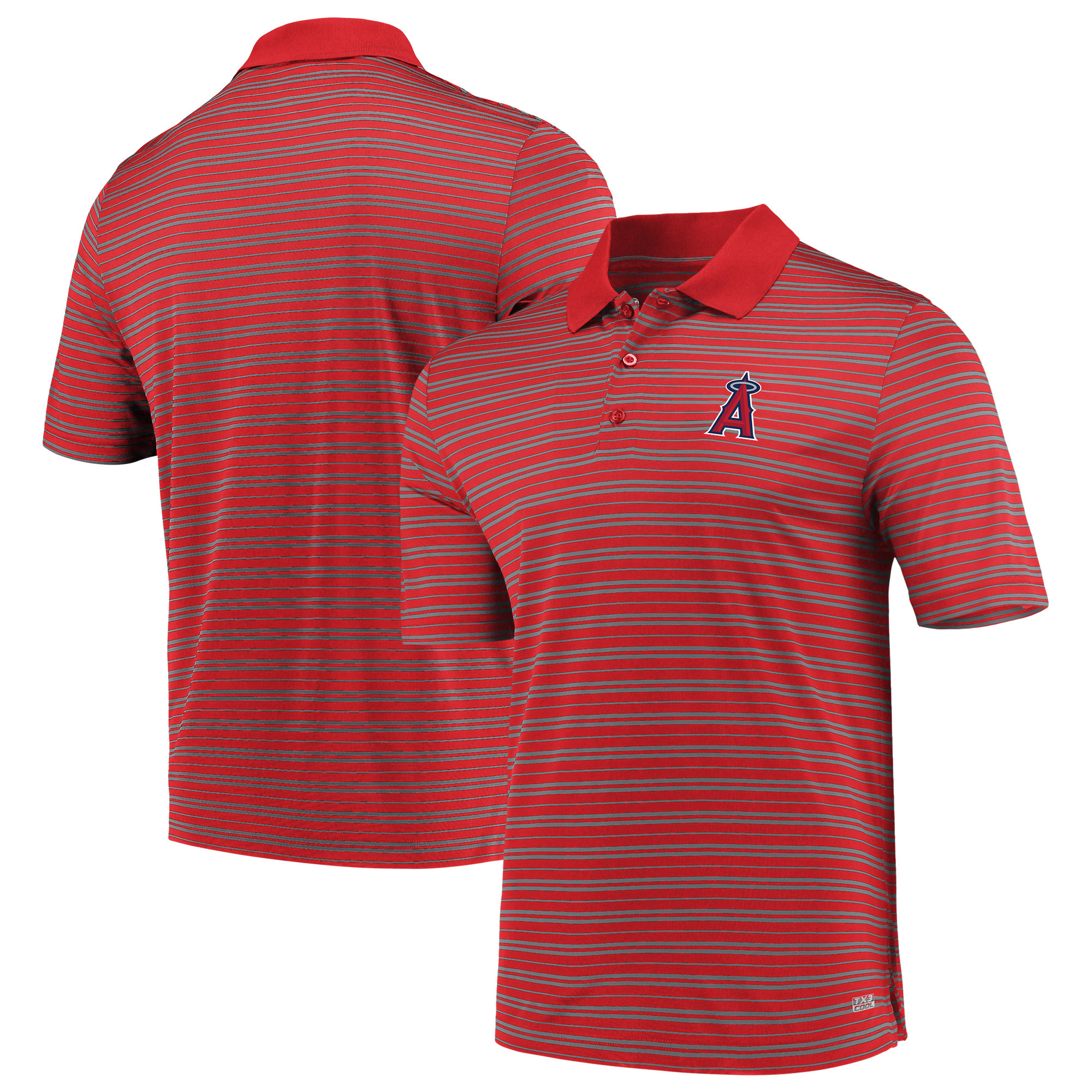 Men's Majestic Red Los Angeles Angels Fan Engagement Polo