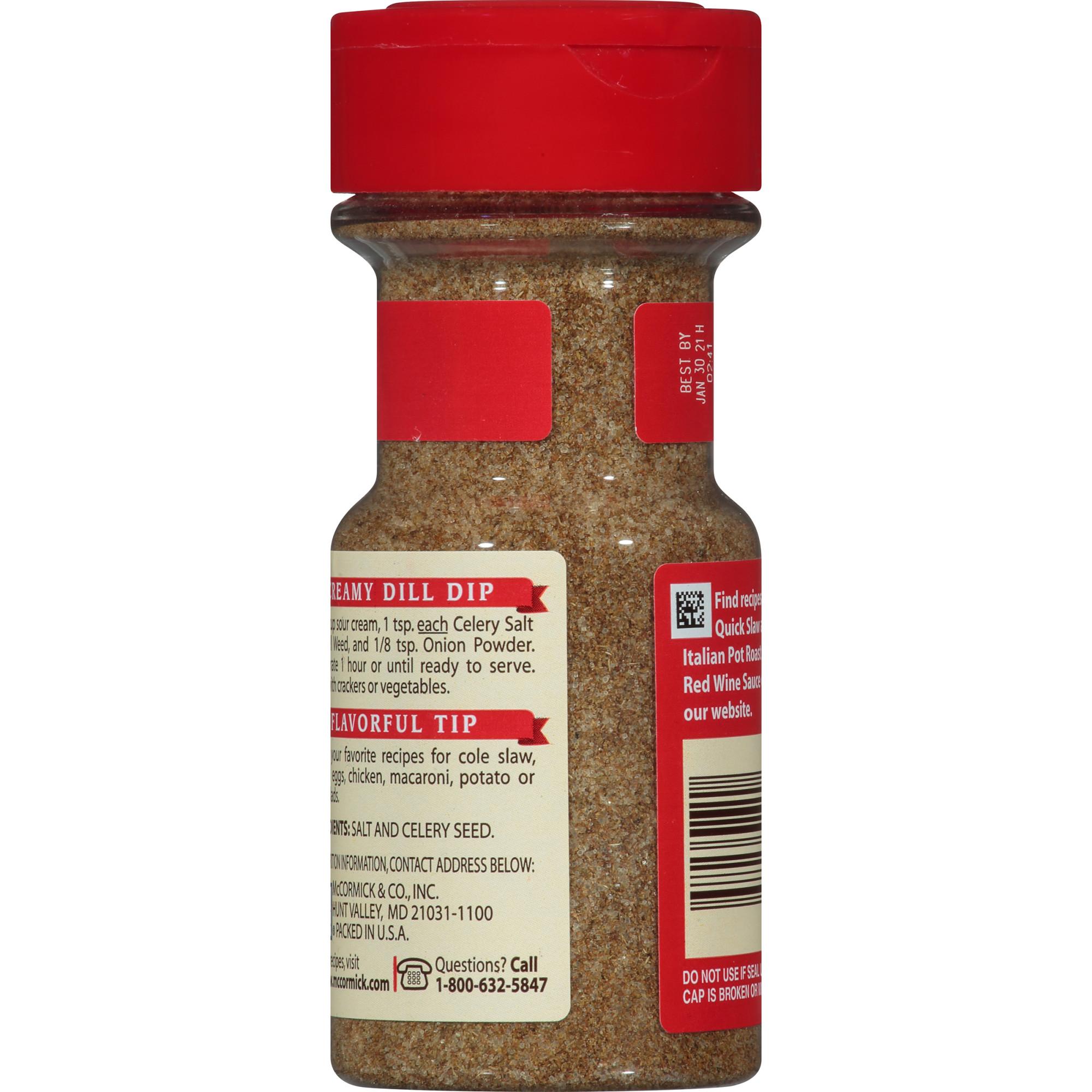 Mccormick Celery Salt 4 Oz Best Salt Spices Amp Seasoning