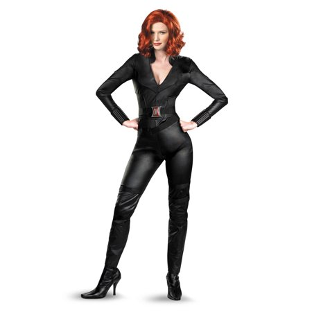 Adult size Deluxe Avengers Movie Black Widow Costume - 3 sizes](Black Widow Dress Costume)