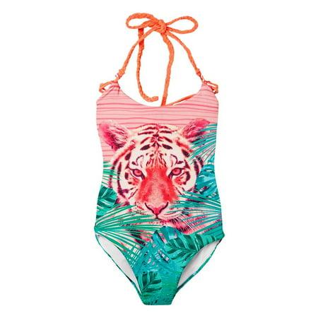 67f55b4fdb OFFCORSS - OFFCORSS Big Girls Cute Colorful One Piece Bathing Suit    Vestido de Baño Niñas - Walmart.com
