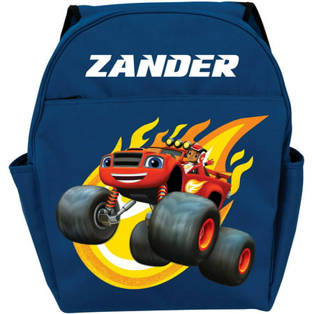 Personalized Blaze and the Monster Machines Blazing Blue Toddler Backpack](Personalized Backpack For Toddler Girl)