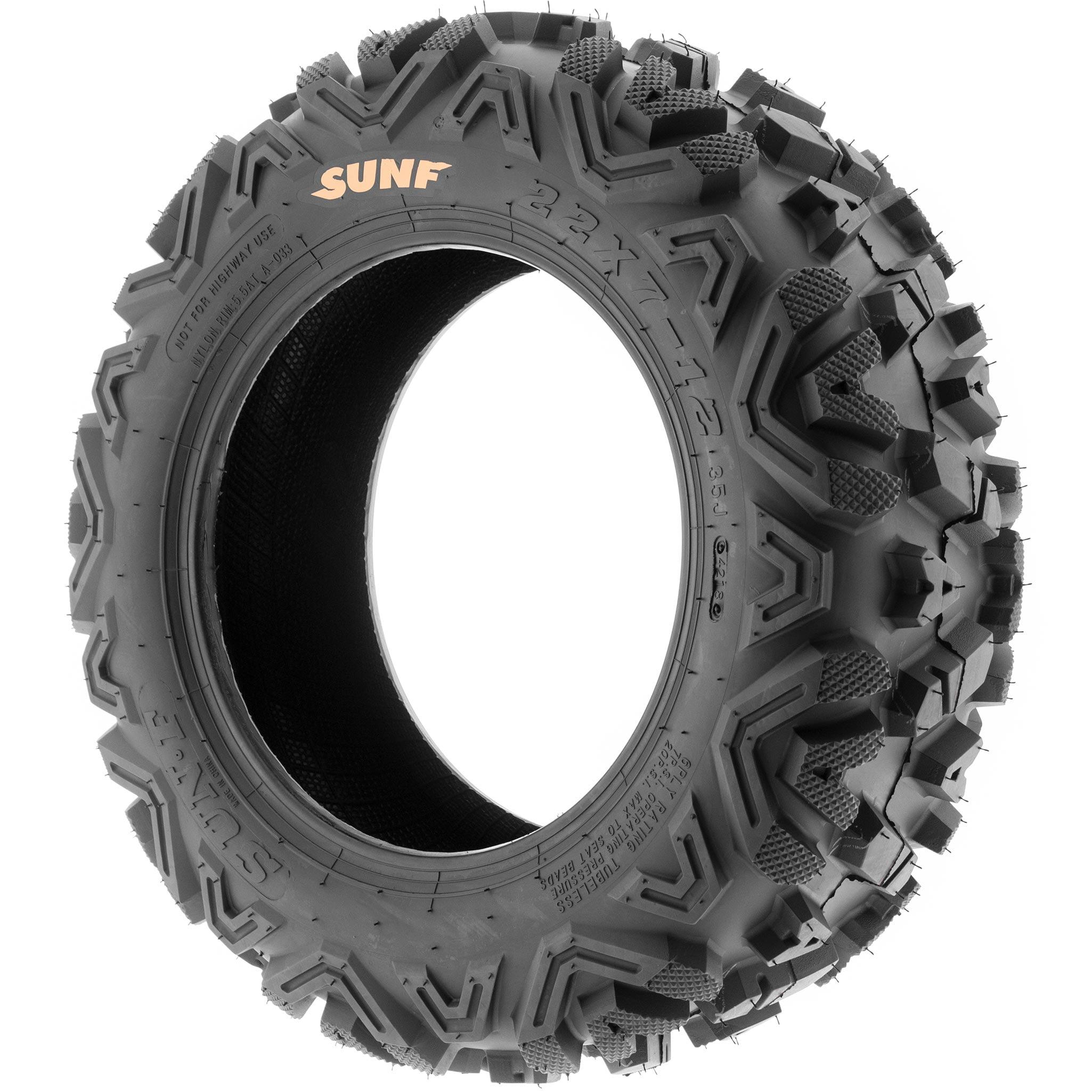 Set of 4 SunF Power.I ATV//UTV AT All-Terrain Tire Bundle 24x8-11 Front /& 24x11-10 Rear 6 PR Tubeless A033