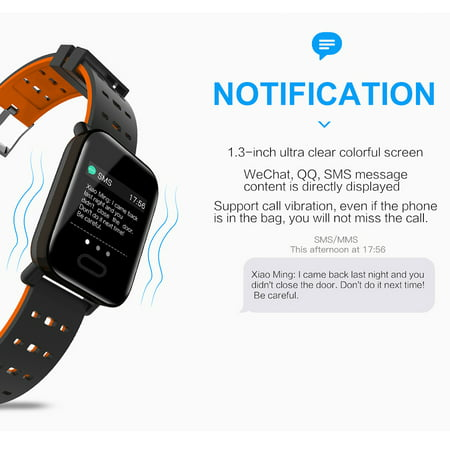 Smart Watch Fitness Tracker Smart Wristband with Heart Rate Monitor Blood Pressure Activity Fitness Watch for Women Men - image 2 of 11