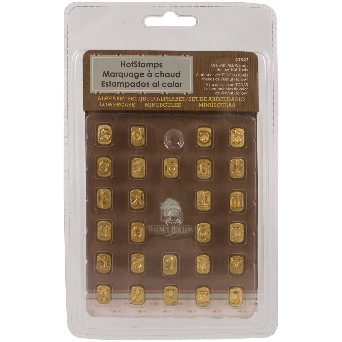 Walnut Hollow Mini Hot Stamps Alphabet Set, Lower Case