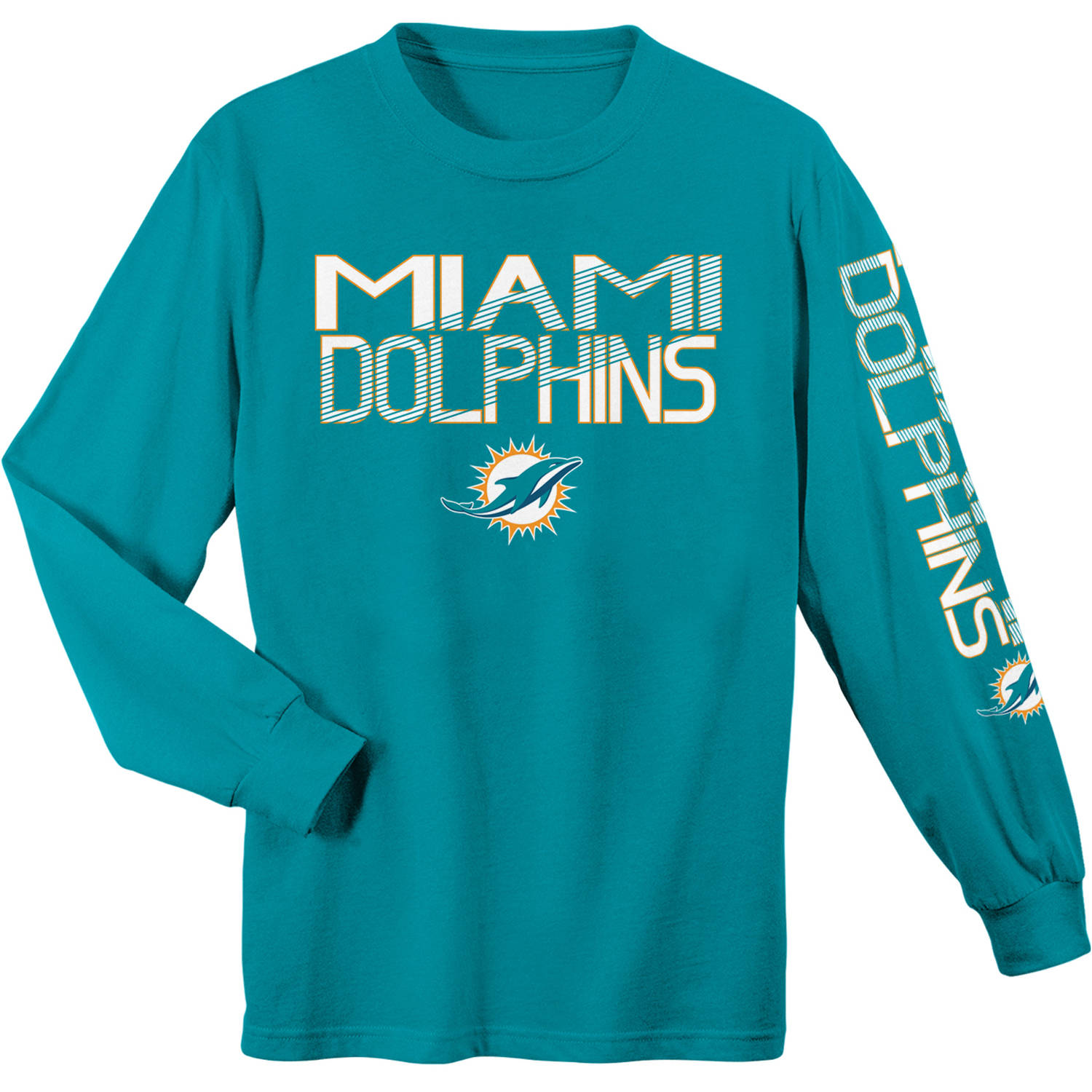 NFL Miami Dolphins Youth Long Sleeve Cotton Tee