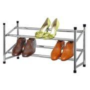 Sunbeam Shoe Rack, 2-Tier, Expandable, Chrome