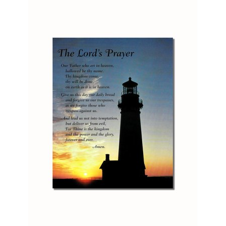 Lord's Prayer Lighthouse Christian Inspirational Wall Picture 8x10 Art Print ()