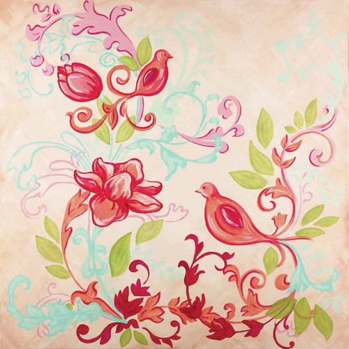 Renditions by Reesa Boho Bird  Canvas Art
