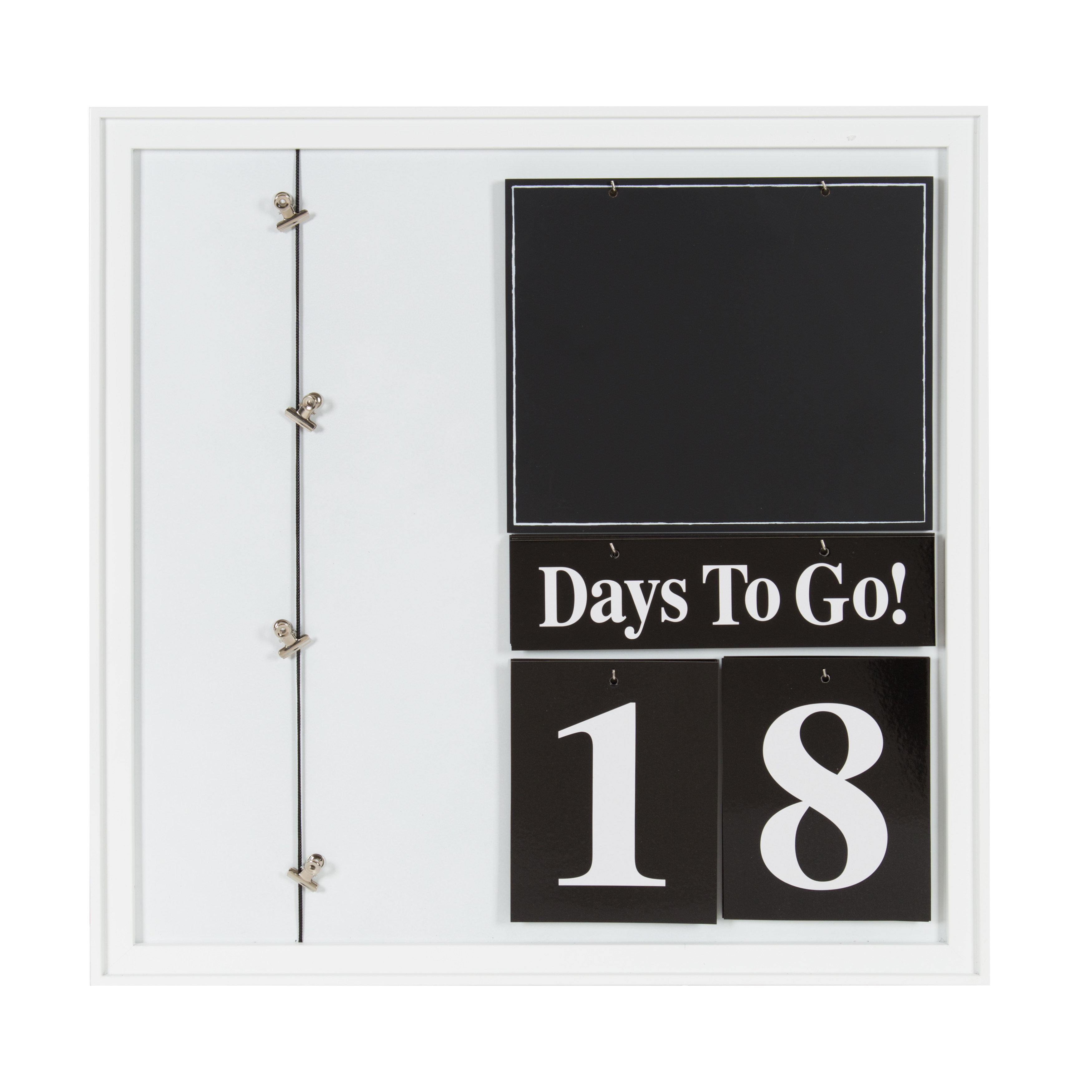 Kate and Laurel Kayden 30 Day Countdown Collage, 22x22, White