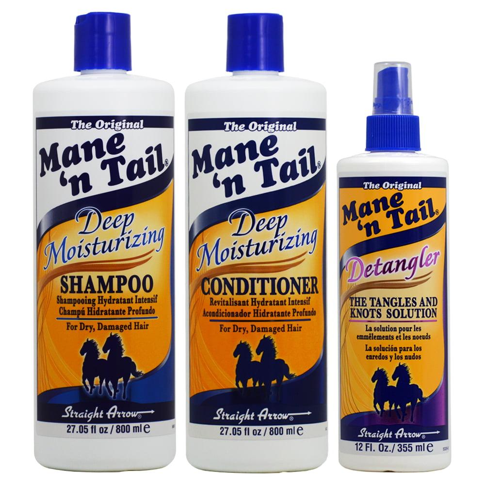 "Mane 'n Tail Deep Moisturizing Shampoo + Conditioner 27.05oz + Detangler ""Set"""