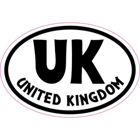 3in x 2in Oval UK United Kingdom Sticker Vinyl Cup Decal Vehicle Stickers