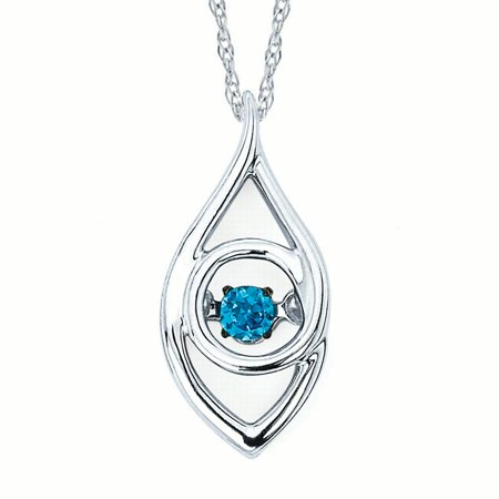 - Iris Pendant in Sterling Silver with .07 Ct. Diamond